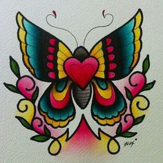 Girly traditional butterfly