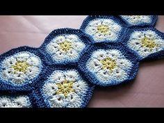 Cómo africana lazo que hace punto con motivos de flores * Flor africana Hexágono ganchillo Motif * - YouTube