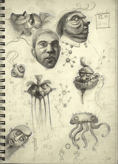 Sketchbook Junk  by Anat Efrati, via Flickr