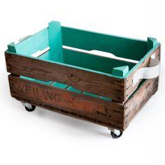 Kisten & Boxen - Storage Box Turquoise - ein Designerstück von I-am-Recycled bei DaWanda