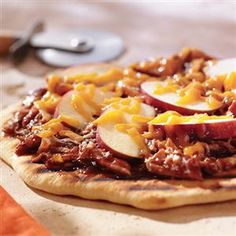 Grilled Barbecued Chicken Pizza