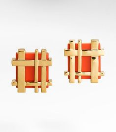Tory Burch Gingham Earrings...amazing.