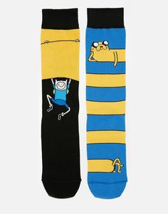 ASOS 2 Pack Socks With Adventure Time Design
