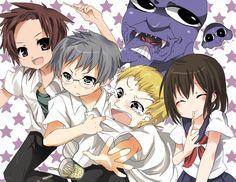 Takuro, Hiroshi, Takeshi, Mika, Ao Oni, Blockman Oni, and Jellyfish Oni.