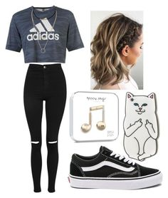 A fashion look from June 2017 featuring adidas tops, Topshop jeans and Vans sneakers. Browse and shop related looks. Cute Middle School Outfits, Cute Teen Outfits, Sporty Outfits, Teenager Outfits, Teen Fashion Outfits, College Outfits, Tween Fashion, Outfits For Teens, New Outfits