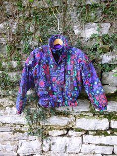 80s Crazy Pattern Multicolor Edelweiss Ski Coat by flickaochpojke, $62.00