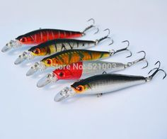Fishing Lure Super Price Tackle 3D Eyes Minnow 5pcs/lot 8.5cm 8g