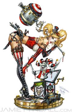 Steampunk Harley Quinn by *jamietyndall on deviantART Check him out,