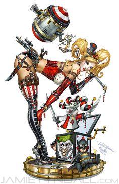 Steampunk Harley Quinn by jamietyndall.deviantart.com on @deviantART