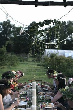 Provide flower wreaths for your guests. Must do for a Midsummer's Eve party or any sort of harvest celebration.