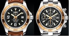 Breitling Superocean with Red Gold Bezels