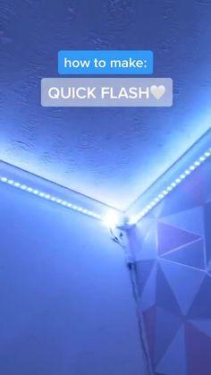 Led Room Lighting, Room Lights, Strip Lighting, Led Diy, Led Light Strips, Led Strip, Delaware, Wooden Bookcase, Room Goals