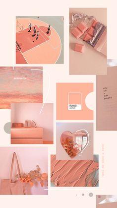 Peach Nectar Lockscreen 🍑 Peach Wallpaper, Iphone Background Wallpaper, Kawaii Wallpaper, Aesthetic Pastel Wallpaper, Aesthetic Wallpapers, Peach Walls, Peach Aesthetic, Polaroid Frame, Pastel Background