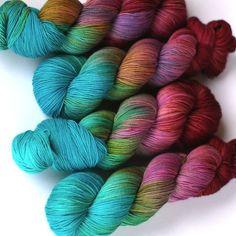 New yarn in the shop! Hades is back. Finally also on DK Crochet Yarn, Knitting Yarn, Ombre Yarn, Yarn Inspiration, Yarn Stash, Fabric Yarn, Yarn Bowl, Sock Yarn, Hand Dyed Yarn
