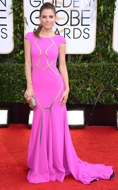 Maria Menounos in a Max Azria Atelier dress from 2014 Golden Globes: Red Carpet Arrivals | E! Online