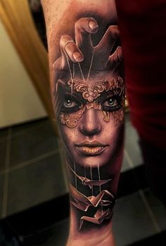 Forearm Portrait Tattoo