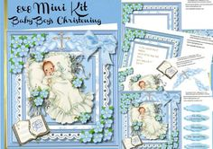 A lovely 8x8 Mini kit to make and give to any child on there special day this kit consists of four sheets ,   Sheet 1, Front cover and five greeting tags ,   Sheey 2, Decoupage,   Sheet 3, Incert with verse and small card or tag ,   Sheet 4, incert  blank with small card or tag,