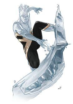 Dima Ivanov illustration — Full set of the latest commissioned drawings. Iceman Marvel, Marvel Xmen, Marvel Comics Art, Marvel Comic Universe, Marvel Heroes, X Men, Robert Drake, Superhero Design, Marvel Girls