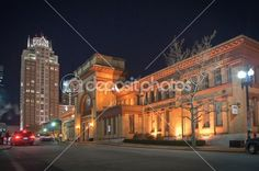 Providence hotels in downtown at night by Alex Grichenko - Stock Photo