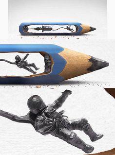 Pencil art <3 #creative #art #sculpture...http://www.pinterest.com/krettig/sculpture/