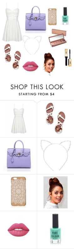 """""""Spring time"""" by dj726 ❤ liked on Polyvore featuring Tory Burch, Cara, Lime Crime, Urban Decay, New Look and Yves Saint Laurent"""