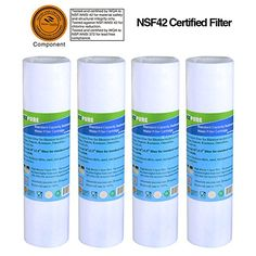 3-Pack Replacement for Compatible with New Wave Enviro CKC1 Activated Carbon Block Filter Universal 10 inch Filter Compatible with New Wave Enviro Portable Single-Stage Countertop System #CKC1