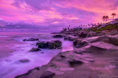 Alex Baltov Photography at Windansea Beach in La Jolla, California  -   Calming sunrise clouds after a stormy night. 2/7/2014