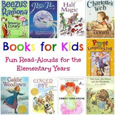 Awesome list of read alouds for elementary kids.