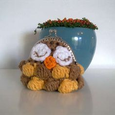 owl crochet coin purse