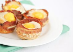 Bacon Egg Biscuit Sandwich Cups