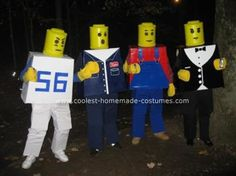Homemade Lego Men Group Costume... This website is the Pinterest of costumes
