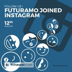 Follow us! Futuramo Joined Instagram!  All icons used in the series are available in our App. Imagine what YOU could create with them! Check out our FUTURAMO ICONS – a perfect tool for designers & developers on futuramo.com