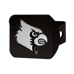 Louisville Cardinals Heavy Duty 3-D Logo Black Chrome Metal Hitch Cover