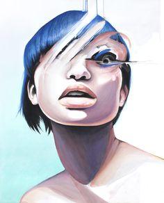Lucid Dream - contemporary portrait art by defectivebarbie