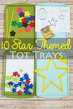 10 Star Themed Tot Trays | #TotSchool #Homeschool #Toddler