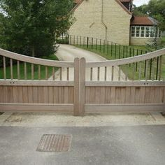 """Driveway Electric Gate Automations - like this but perhaps taller- """"Wood/Metal Frames"""""""