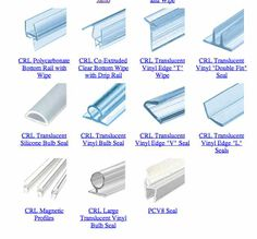 1000 Images About Frameless Shower Door Seals On
