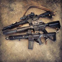 Trio of Defense Rifles