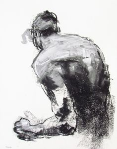 Contemporary Male Figure Drawing - 11 x fine art - Drawing 153 - pastel on paper - original drawing by DerekOverfieldArt: Male Figure Drawing, Fine Art Drawing, Drawing Artist, Drawing Sketches, My Drawings, Painting & Drawing, Figure Drawings, Contour Drawings, Modern Drawing