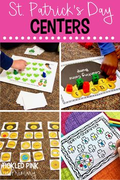 These St. Patrick's Day Activities are perfect for literacy and math centers for Kindergarten or first grade! Grab a FREE ABC order game too! Senses Activities, Geometry Activities, Spring Activities, Holiday Activities, Kindergarten Activities, Holiday Crafts, Holiday Fun, Preschool Lessons, Holiday Dinner