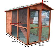 Chicken Coops - Chicken Coop :: Rabbit Hutch :: Chicken House Giant Walk In Mansion Chicken Coop - The Giant Walk-In Mansion Chicken Coop is big enough for you to walk right in with your chickens. It comes with plenty of rooms in the nesting area plus covered run area to keep your chickens safe and sound. Feature quality timer made especially for the Australian backyard and