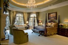 Interiors - Traditional and elegant - Master Bedroom - Steve Long Photography