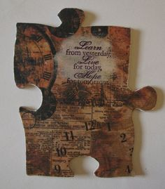 Altered Puzzle Piece: Learn, Live, Hope.