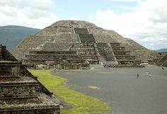 """No one knows who built Teotihuacan; the name itself is from the Aztec Nahuatl language and is thought to mean the """"city of the gods""""."""
