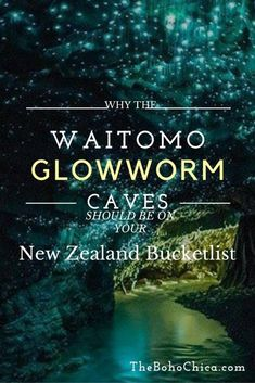 bucket list travel Waitomo Glowworm Caves in New Zealand is a breathtaking natural sight that should be on your New Zealand bucket list. Heres how to visit on a walking tour and a black water rafting tour. New Zealand Itinerary, New Zealand Travel Guide, Glowworm Caves New Zealand, Places To Travel, Travel Destinations, Travel Pics, Travel Stuff, Travel Pictures, Travel Ideas