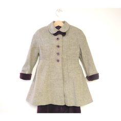 Vestiti per bambini d'epoca, Balmain rara di 1940 di Parigi grigio... ($125) ❤ liked on Polyvore featuring childrens coat