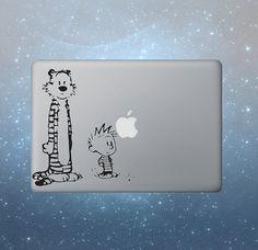 Calvin Hobbes macbook decals macbook sticker by blueboxdecals, $6.95