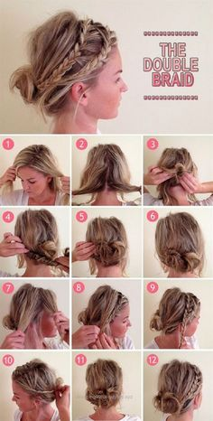 15 Fresh Updo's for Medium Length Hair - Hair & Makeup - Bridal Hairstyles With Braids, Braided Hairstyles Tutorials, Pretty Hairstyles, Easy Hairstyles, Updo Hairstyle, Wedding Hairstyles, Hairstyle Ideas, Style Hairstyle, Wedding Updo