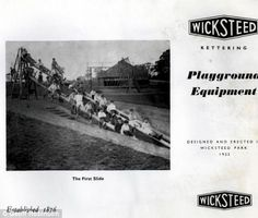 By 1929 Wicksteed's slide had become his most popular piece of play equipment.