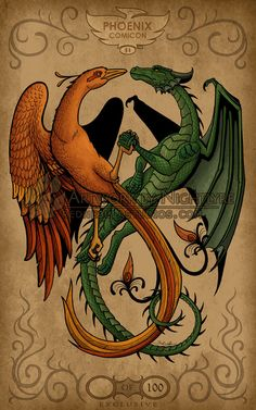 The Phoenix and the Dragon by *Nightlyre on deviantART